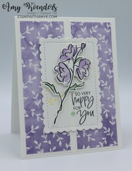 Stampin' Up! Color & Contour Sneak Peek Congratulations Card