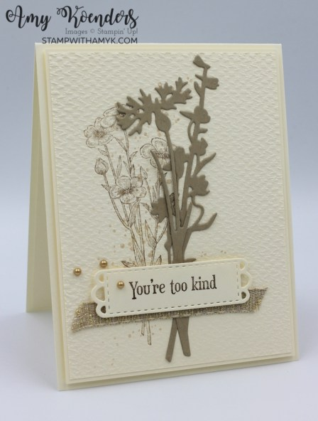 Stampin' Up! Quiet Meadow Thank You Card