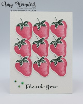 Stampin' Up! Sweet Strawberry Thank You Card