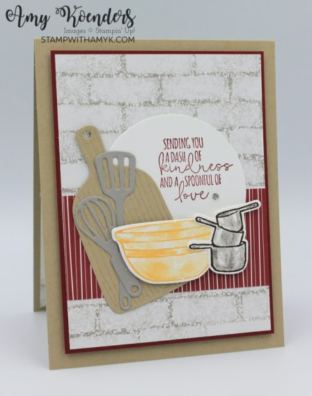 Stampin' Up! What's Cookin' Spoonful Of Love Card