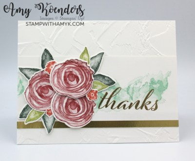 Stampin' Up! Artistically Inked Thank You Card