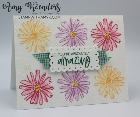 Stampin' Up! Color & Contour CAS You Are Amazing Card
