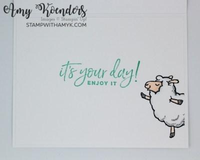 Stampin' Up! Counting Sheep Birthday Card