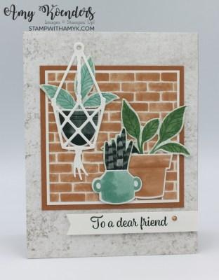 Stampin' Up! Plentiful Plants Dear Friend Card