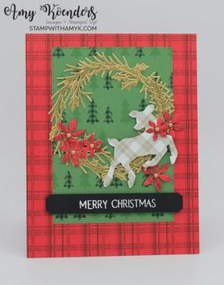 Stampin' Up! Peaceful Deer Christmas Wreath Card
