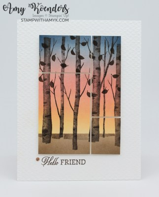 Stampin' Up! Welcoming Woods Hello Friend Fall Card