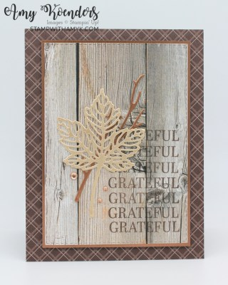 Stampin' Up! Sparkle Of The Season Fall CAS Thank You Card