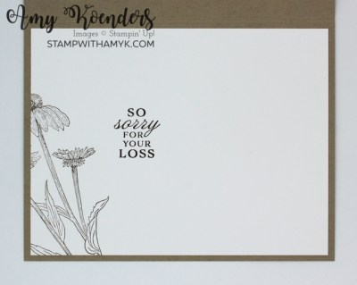Stampin' Up! Thinking Thanks & Peace Sympathy Card