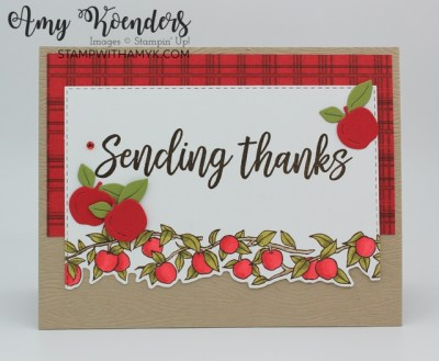 Stampin' Up! Festive & Bright Fall Thank You Card