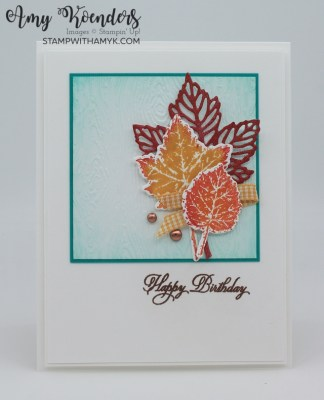 Stampin' Up! Gorgeous Leaves Birthday Card