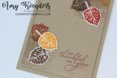Stampin' Up! Gorgeous Leaves Thank You Card