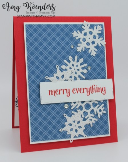 Stampin' Up! Merry Snowflakes Christmas Card