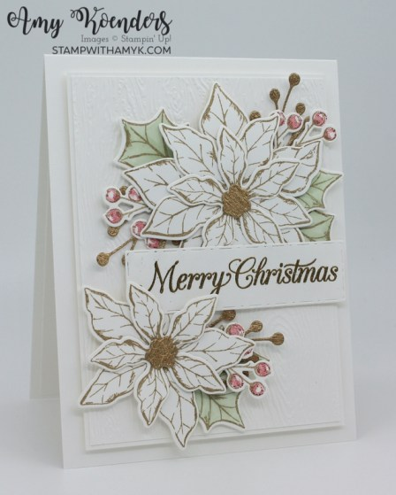 Stampin' Up! Poinsettia Petals Christmas Card