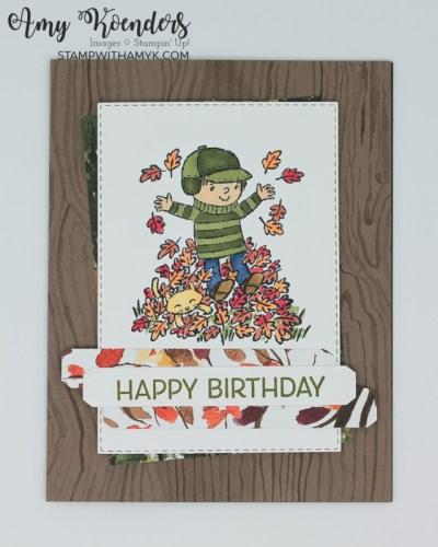 Stampin' Up! Seasons Of Fun Fall Birthday Card
