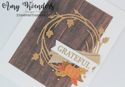Stampin' Up! Sparkle Of The Season Grateful Card