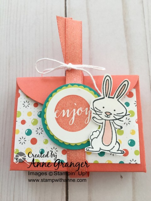 Easter Treat Box made with the Stampin' Up! Lots of Love Box Framelits Dies