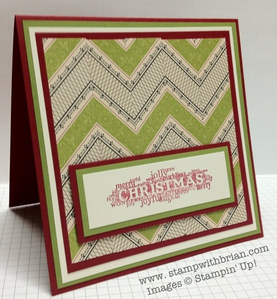 stampwithbrian.com - Build a Chevron Tutorial
