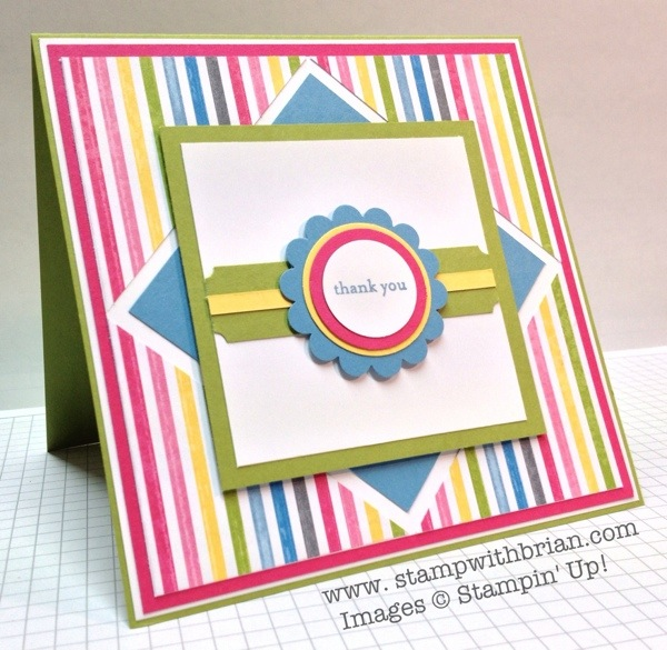 Teeny Tiny Wishes, Ticket Duo Builder, Sunshine & Sprinkles Designer Series Paper, Stampin' Up!, stampwithbrian.com