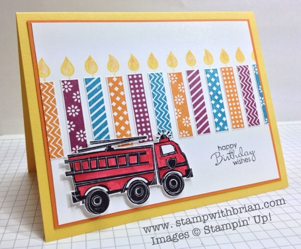 You're My Hero, Birthday Candles, Petite Pairs, Stampin' Up!, Brian King