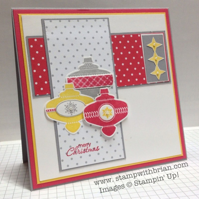 Christmas Collectibles, A Banner Christmas, Petite Pairs, Stampin' Up!, Brian King, PPA166, PP156