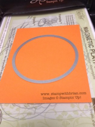 Save paper by cropping from the background panel, Stampin' Up!, Brian King