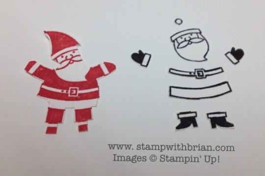 Snipping Santa Claus, Tag It, Stampin' Up!, Brian King