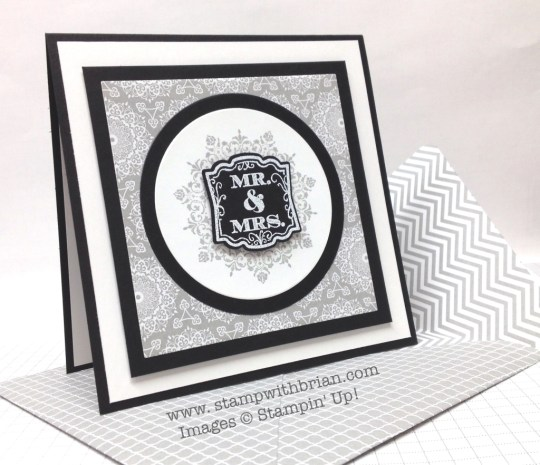 Everything Eleanor, Label Love, Stampin' Up!, Brian King, wedding card
