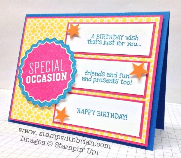 Dude You're Welcome Kit, Remembering Your Birthday, Stampin' Up!, Brian King, PPA205
