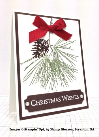 Holiday One-for-One Swap, Stampin' Up!, by Nancy Gleason