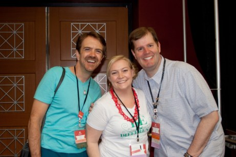 Justin Krieger, Louise Sharp and Brian King