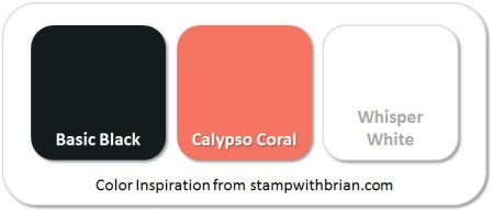 Stampin' Up! Color Inspiration: Basic Black, Calypso Coral, Whisper White