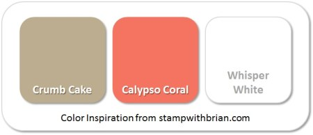 Stampin' Up! Color Inspiration: Crumb Cake, Calypso Coral, Whisper White