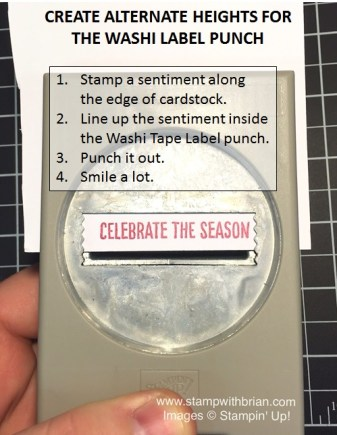 Tips for creating alternate heights with Washi Label punch, Stampin' Up!, Brian King