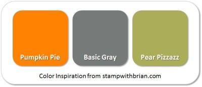 Stampin' Up! Color Inspiration: Pumpkin Pie, Basic Gray, Pear Pizzazz
