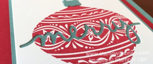 Embellished Ornaments, Christmas Greetings Thinlits Dies, Stampin' Up!, Brian King, GDP012