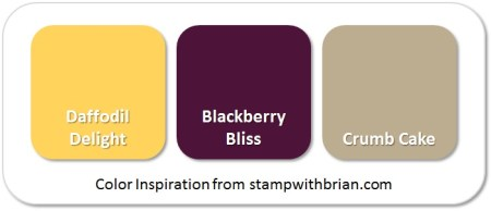 Stampin' Up! Color Inspiration: Daffodil Delight, Blackberry Bliss, Crumb Cake