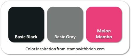 Stampin' Up! Color Inspiration: Basic Black, Basic Gray, Melon Mambo