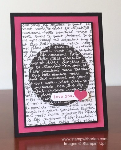 Words of Truth, Neutrals Designer Series Paper Stack, Stampin' Up!, Brian King, GDP-018, Valentine's Day card