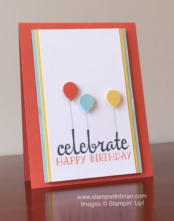 Fabulous Four, Number of Years, Stampin' Up!, Brian King, birthday card, PP282