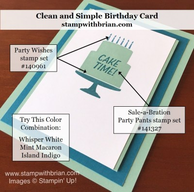 Party Wishes, Party Pants, Stampin' Up!, Brian King, GDP026, Birthday Card