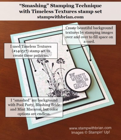 Timeless Textures, Something to Say, Stampin' Up!, Brian King, FabFri82, Smashing Technique