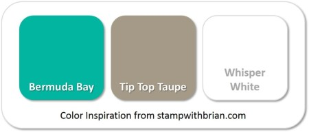 Stampin' Up! Color Inspiration: Bermuda Bay, Tip Top Taupe, Whisper White