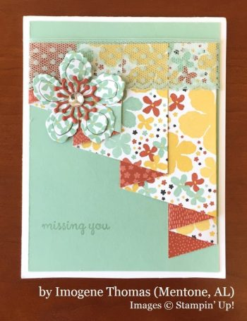 Imogene Thomas, Mentone AL, Stampin' Up!, card swap