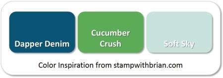 Dapper Denim, Cucumber Crush, Soft Sky