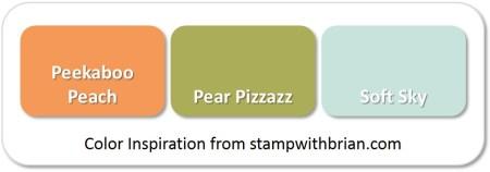 Peekaboo Peach, Pear Pizzazz, Soft Sky