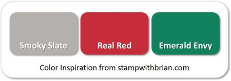 Stampin' Up! Color Inspiration: Smoky Slate, Real Red, Emerald Envy