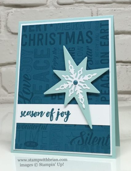 Merry Medley, Christmas Pines, Starlight Thinlits Dies, Stampin' Up!, Brian King