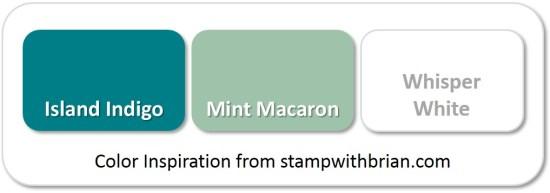 Stampin' Up! Color Inspiration: Island Indigo, Mint Macaron, Whisper White
