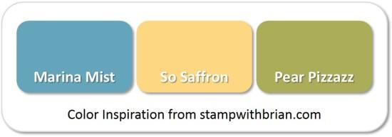 Stampin' Up! Color Inspiration: Marina Mist, So Saffron, Pear Pizzazz