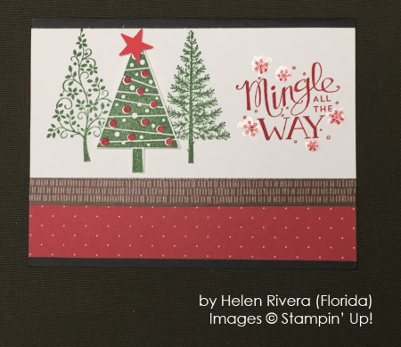 by Helen Rivera, Stampin' Up!, Holiday One-for-One Swap